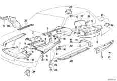 Wärmeisolierung / Abschirmung Motorraum