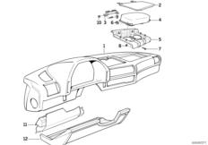 Verkl.Instrumententafel / Beifahrerairbag