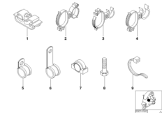 Diverse Kabelhalter