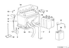 Original BMW Batterie ungefüllt