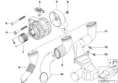 Generator Einzelteile 90A Valeo