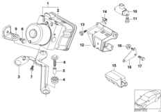 Hydroaggregat DSC / Halterung / Sensoren