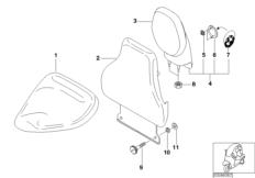 Fahrersitz-Rückenlehne