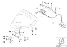 Anbauteile / Verriegelung Fahrersitz