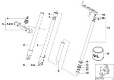 Kugelgelenkgabel Standrohr-Gleitrohr