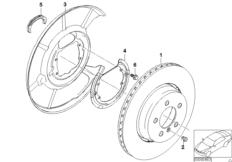 Hinterradbremse-Bremsscheibe