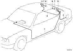 Einzelteile Antennen-Diversity