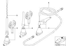 Einzelteile Dachtelefonantenne