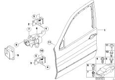 Tür vorn - Scharnier / Türbremse