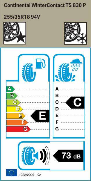 BMW Reifen nter Contact TS830P 255 35 R18 94V