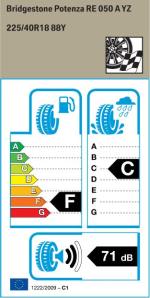 BMW Reifen Bridgestone Potenza RE 050 A 225-40R18 88Y EK