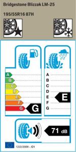 BMW Reifen Bridgestone Blizzak LM-25 195-55 R16 W