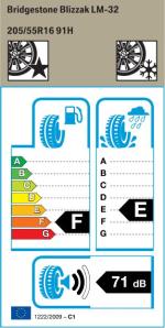 BMW Reifen Bridgestone Blizzak LM-32 205-55 R16 W