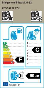 BMW Reifen Bridgestone Blizzak LM-32 225-55 R17 W