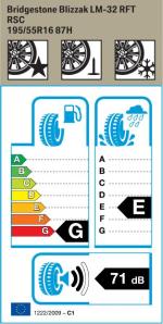 BMW Reifen Bridgestone Blizzak LM-32 RFT 195-55 R16 W
