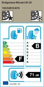 BMW Reifen Bridgestone Blizzak LM-32 195-55 R16 W