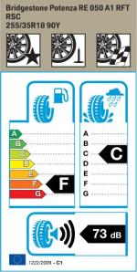 BMW Reifen Bridgestone Potenza RE 050 A1 RFT 255-35R18 90Y EK