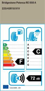 BMW Reifen Bridgestone Potenza RE 050 A 225-45R18 91V EK