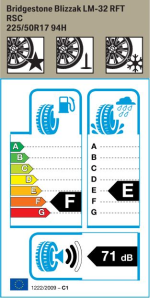 BMW Reifen Bridgestone Blizzak LM-32 RFT 225-50 R17 W