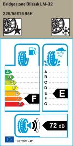 BMW Reifen Bridgestone Blizzak LM-32 225-55 R16 W