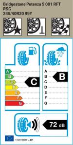 BMW Reifen idgestone Potenza S 001 RSC 245 40 R20 99Y