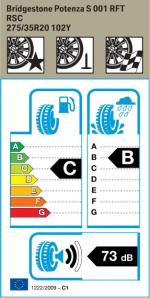 BMW Reifen idgestone Potenza S 001 RSC 275 35 R20 102Y