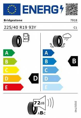BMW Reifen idgestone Potenza S 001 RSC 225 40 R19 93Y
