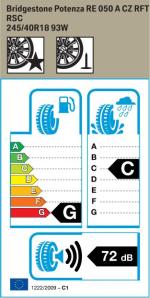 BMW Reifen Bridgestone Potenza RE 050 A CZ RFT