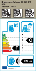 BMW Reifen Bridgestone Potenza RE 050 RFT