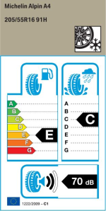 BMW Reifen Michelin Alpin A4 205-55 R16 W