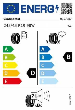 BMW Reifen ntinental SportContact 3 RSC 245 45 R19 98W