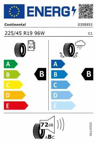 BMW Reifen ntinental EcoContact 6 RSC 225 45 R19 96W