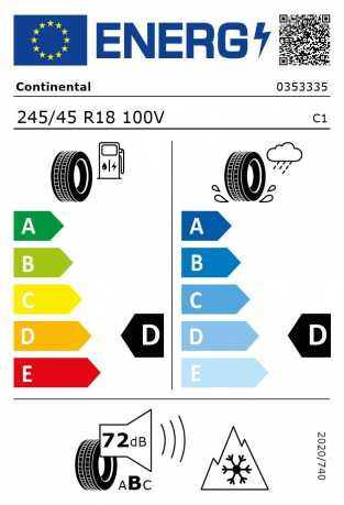 BMW Reifen Continental WinterContact TS 810 S 245-45 R18 W