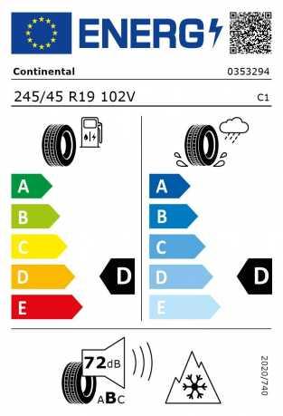 BMW Reifen Continental WinterContact TS 810 S SSR 245-45 R19 W