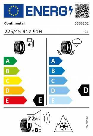 BMW Reifen Continental WinterContact TS 830 P SSR RSC 225-45 R17 W
