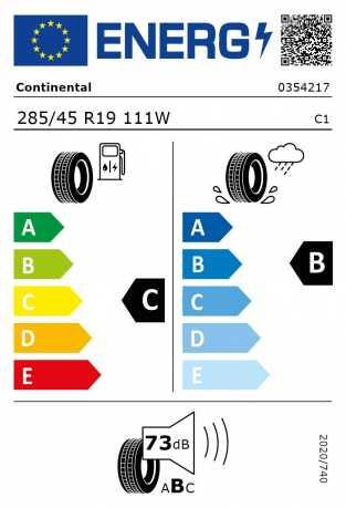 BMW Reifen Continental SportContact 5 SUV SSR 285-45 R19 111W S