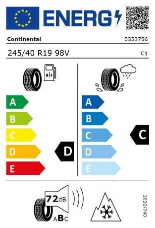 BMW Reifen interContact TS830P  245 40 R19  98V