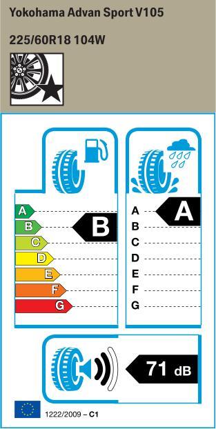 BMW Reifen kohama Advan Sport V105 225 60 R18 104W