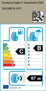 BMW Reifen gle F1 Assymmetrico 255 50 R19 107Y