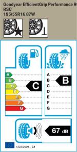 BMW Reifen odyear EfficientGrip Performance RSC 195 55 R16 87W