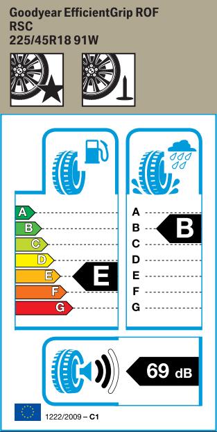BMW Reifen odyear EfficientGrip RSC 225 45 R18 91W