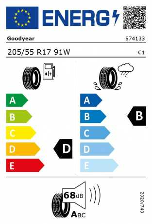 BMW Reifen odyear EfficientGrip Performance RSC 205 55 R17 91W
