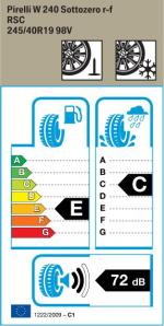 BMW Reifen Pirelli W 240 Sottozero r-f 245-40 R19 W