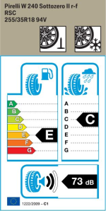 BMW Reifen Pirelli W 240 Sottozero II r-f 255-35 R18 W