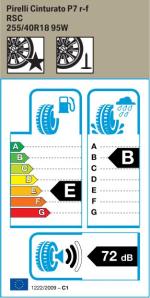 BMW Reifen relli Cinturato P7 RSC 255 40 R18 95W