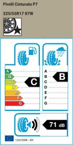 BMW Reifen relli Cinturato P7 225 55 R17 97W