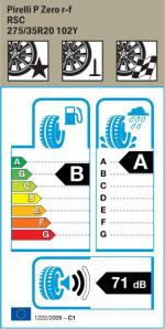 BMW Reifen relli P Zero RSC 275 35 R20 102Y