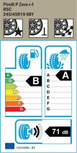 BMW Reifen relli P Zero RSC 245 45 R19 98Y