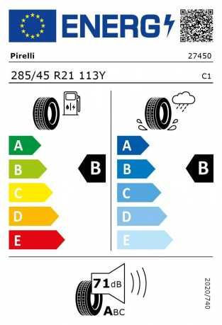 BMW Reifen relli P Zero RSC 285 45 R21 113Y