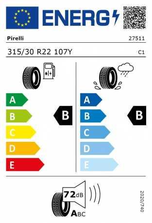 BMW Reifen relli P Zero 315 30 R22 107Y XL